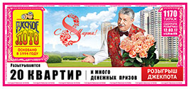 Результаты 1170 тиража лотереи Русское лото