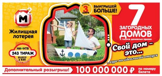 10 загородных домов в 242 тираже Жилищной лотереи